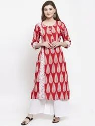Ladies Regular Wear Designer Kurtis-palazzo set
