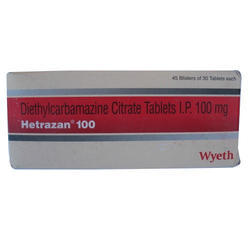 Hetrazan Tablets, Usage: Clinical, Hospital