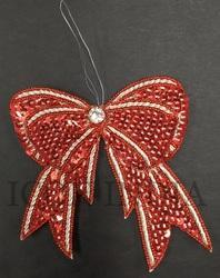 Handmade Christmas Beaded & Sequin Embroidery Hanging