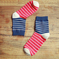 Isports Red, White And Blue Men's Striped Socks