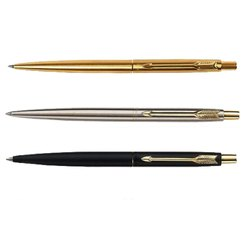 Metal Black, Golden & Silver Parker Pen Set, India