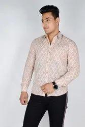 Cotton Men Full Sleeves Printed Shirt