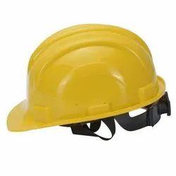 PVC Yellow Safety Helmet Ratchet Type, For Construction, Size: Medium