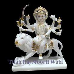 White Shera Wali Mata Statue