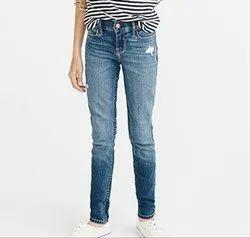 Girls Kids Blue Denim Jeans