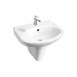 Plain Starwhite Ivory Pedestal Wash Basin