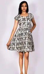 Soft Cotton Printed Short Dresses
