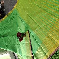 Chanderi Sarees With Blouse Piece