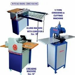 Paper Bag Making Combo Machine ( Square Bottom )