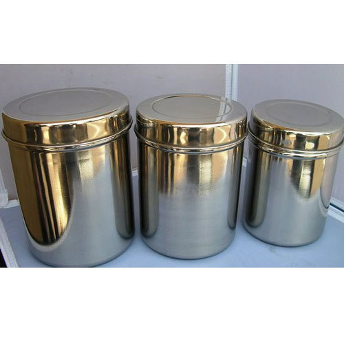 Silver Stainless Steel Storage Container Set Capacity 5 20 Litre