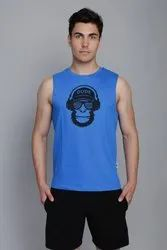 Electric Blue Dude Gym Vest