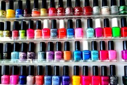 Red Nail Polish, For Personal, Packaging Size: 12
