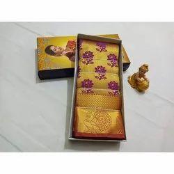 Party Wear Printed Pattu Silk Saree, Packaging Type: Box, 5.5 m (separate blouse piece)