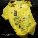 Cotton Dobby Collar Neck F20 Plain Pattern Shirts