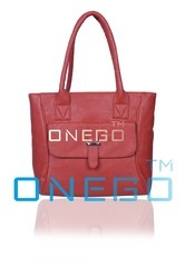 Onego Red Ladies Shoulder Bags, For Office