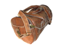 Vintage Leather Organizer Gym Bag