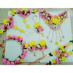 Yellow and Pink Flower Jewellery