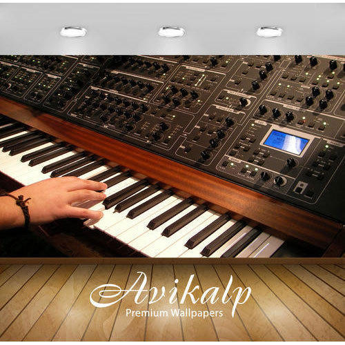 Horizontal Printed Synthesizer Wallpaper Rs 180 Square Feet