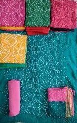 Cotton Exclusive Bandhani Dress Material