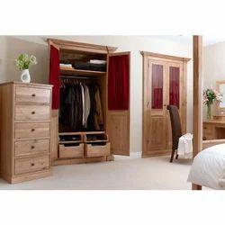 Light Brown Bedroom Cabinet