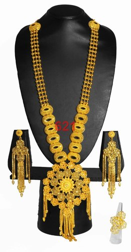 Indian Gold Plated Long Necklace Beautiful Fancy Design Style