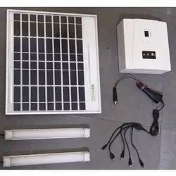 Solar DC Lighting System with 20 Watt Solar Panel