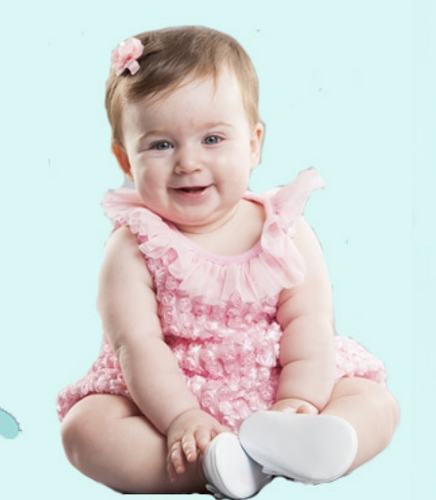 Pink Plain Baby Frock