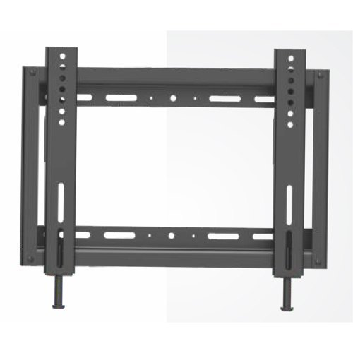 Black Mild Steel Fixed TV Wall Mount