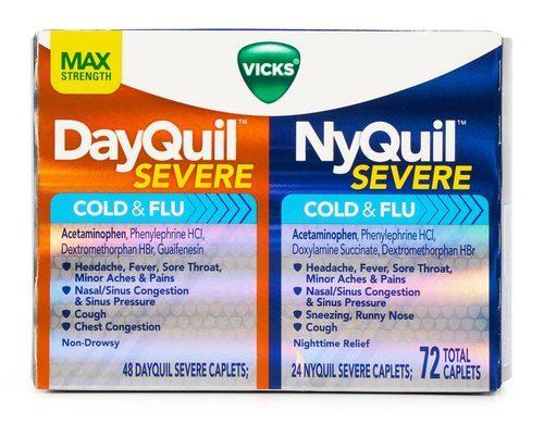 Vicks Dayquil Ny Quil Severe Cold Flu 72 Caps
