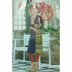 Stitched Cotton Ladies Churidar Suit, Size: M