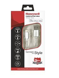 Honeywell Lightning Sync & Charge Cable 1.2mtr (Braided) - Silver