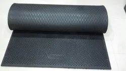 Exercise Gym Floor Mat Heavy Duty 4 Ft x 7 Ft (Easy Fix - No Pasting)