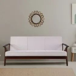 3 Three Seater Wooden Sofa