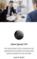 Black Jabra Speak 510 Usb Microphone With Speaker