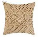 Bohemian Decorative Handmade Woven Throw Pillow Case Square Macrame Cushion Cover