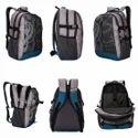 Killer Liverpool 34L Printed Polyester Grey & Indigo Blue Laptop Backpack