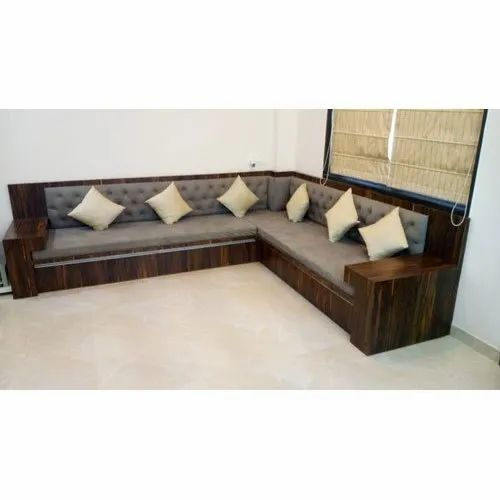 6 Seater Antique Wooden Corner Sofa Set Bedroom Back Style Tight Back Rs 3000 Running Feet Id 21721174762
