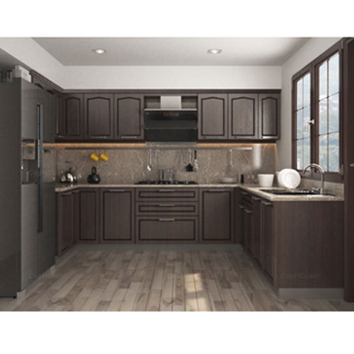 Contemporary L Shaped Kitchen Designs: Modern U Shape Modular Kitchen, Rs 2500 /square Feet