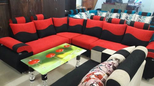 Red And Black Wooden Sofa Set, Rs 25000 /set, New Design Furniture ...
