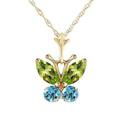 Blue Topaz Butterfly Pendant