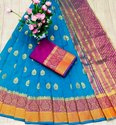 Party Wear Pink Pure Silk Saree