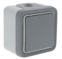 1 Lever Plexo Surface Mounted electrical Switch - Grey