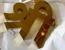Stainless Steel Gold Mirror Letter