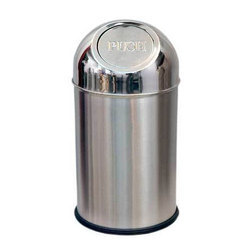 Stainless Steel Push Dustbin