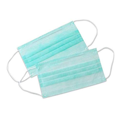 Green Cotton Face Mask, Packaging Type: Poly Bag