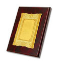 Rectangle Wooden & Metal Memento Trophy