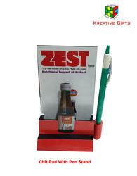 Chit Pad Holder with Pen Stand