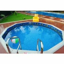 Blue FRP Round Swimming Pools, for Residential