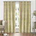 52 x 90 inch Gold Printed Blackout Curtains
