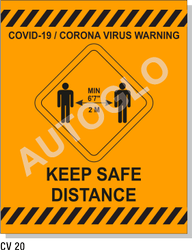 Covid19 Signage: Keep Safe Distance